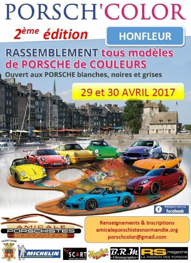 affiche porsh' color honfleur