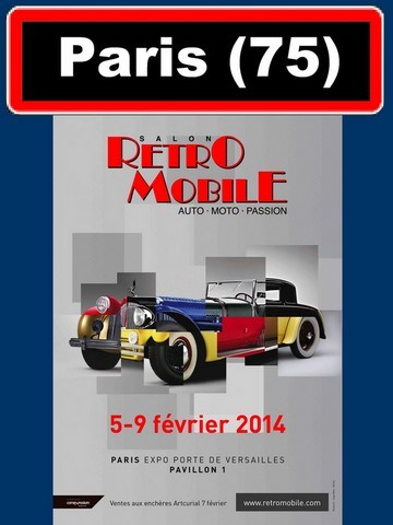 AFFICHE SALON RETROMOBILE PARIS 2014