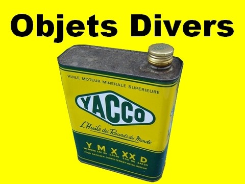 collection d'objets divers sur l'automobile