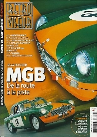 retro viseur mgb mg b